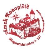 Turistické razítko - Zámek Konopiště - Magnetické místo