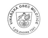 Turistická razítka - Vinařská obec Milotice