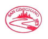 Turistická razítka - San Gimignano (Itálie)